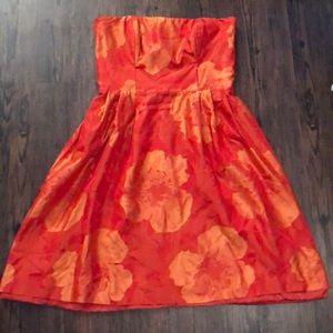 Kalinka Burnt Orange Floral Dress Size 6